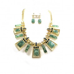 NECKLACE SET 301507821275 GREEN